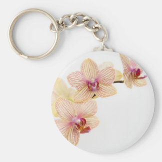 ORCHID DELIGHT BASIC ROUND BUTTON KEYCHAIN