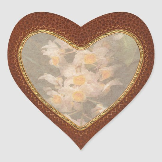 Orchid - Dendrobium Orchid Heart Sticker