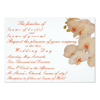 Orchid Designed Wedding Invitation