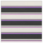 [ Thumbnail: Orchid, Dim Gray, Beige, Black & Midnight Blue Fabric ]