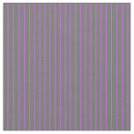 [ Thumbnail: Orchid & Dim Grey Pattern of Stripes Fabric ]