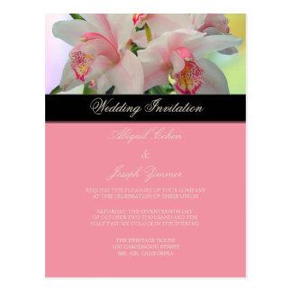 Orchid, diy Wedding Invitation / save the date Postcard