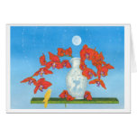 Orchid Dream Floating in Place With 3 Little Birds Greeting Card