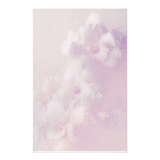 orchid dreams pale pink customized stationery