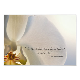 Orchid Elegance Thank You for Your Sympathy Note Card