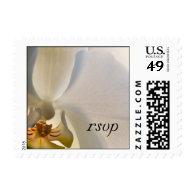 Orchid Elegance Wedding RSVP Postage Stamp