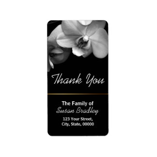 Orchid Elegant Thank You Label 1
