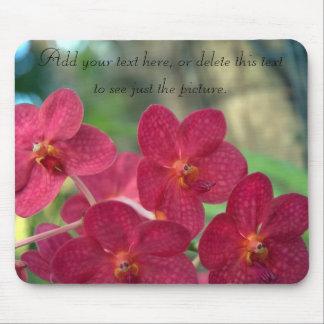 Orchid Faces Mousepads custom message Mouse Pad