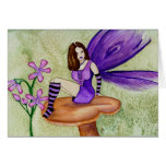 Orchid Fairy Blank Greeting Card