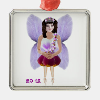 Orchid Fairy Christmas Ornament