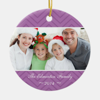 Orchid Family Custom Photo Christmas Ornament