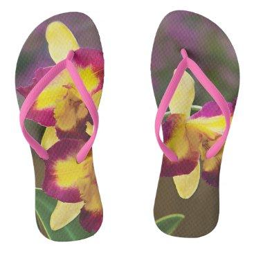 Beach Themed Orchid Flip Flop