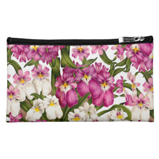 Orchid Floral Botanical Tropical Flowers Bag Makeup Bags