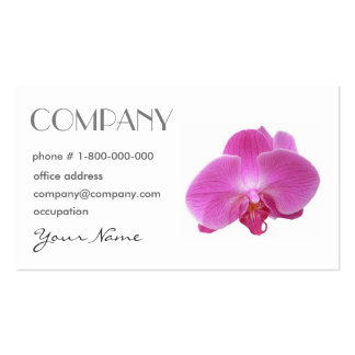 Orchid Floral Business Card