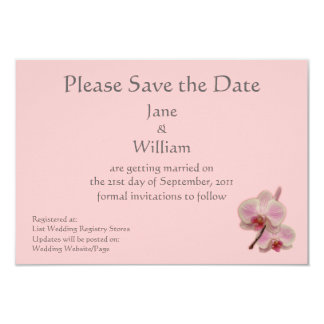 Orchid Floral Photo Save the Date Announcement