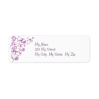 Orchid Floral Swirls (1) Label