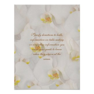 Zazzle Orchid flower sign in poster