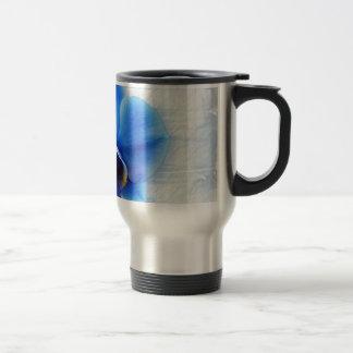 Orchid Flower Blue Love Peace Destiny Gift 15 Oz Stainless Steel Travel Mug