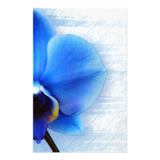Orchid Flower Blue Love Peace Destiny Gift Personalized Stationery