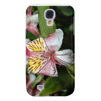 Orchid flower close up, pink white yellow photo samsung s4 case