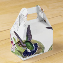 Orchid Flower Hummingbird Birds Wildlife Favor Box