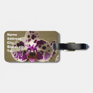 Orchid flower luggage tag