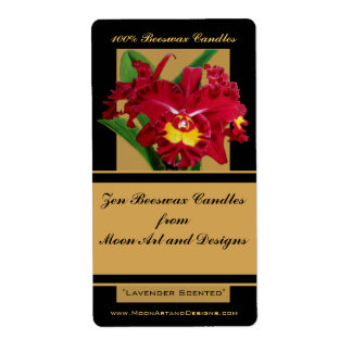 Orchid Flower Painting Craft or Wine Label 1