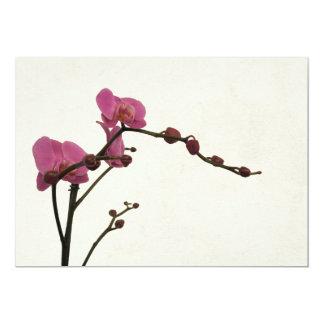 "orchid flower romantic invitation 5"" x 7"" invitation card"