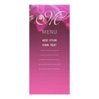orchid flower wedding menu card rack card template