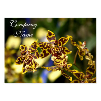 Orchid flowers large business cards (Pack of 100)