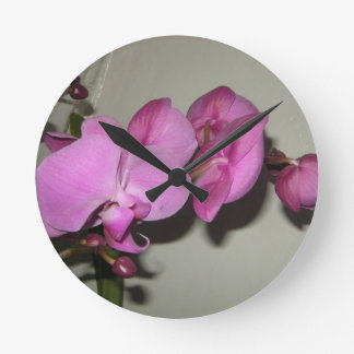 Orchidflowers Round Clocks