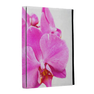 Orchid flowers closeup iPad folio cover