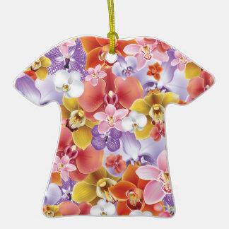 Orchid Flowers Design Floral Print Ornament