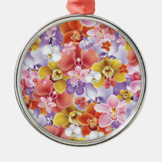 Orchid Flowers Design Floral Print Christmas Ornament