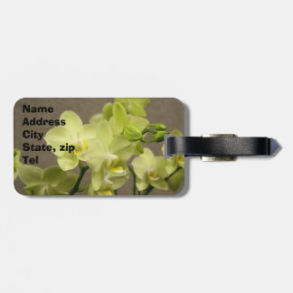 Orchid flowers luggage tag