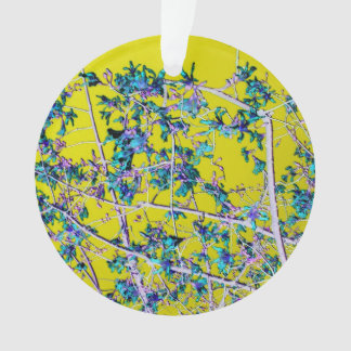 orchid flowers teal and yellow neat abstract desig