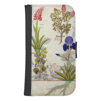 Orchid & Fumitory or Bleeding Heart Hedera & Iris Galaxy S4 Wallets