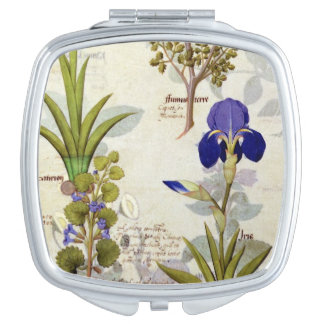 Orchid & Fumitory or Bleeding Heart Hedera & Iris Vanity Mirror