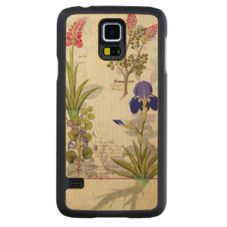 Orchid & Fumitory or Bleeding Heart Hedera & Iris Carved® Maple Galaxy S5 Slim Case