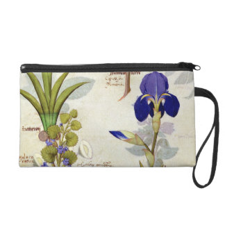 Orchid & Fumitory or Bleeding Heart Hedera & Iris Wristlet Purse