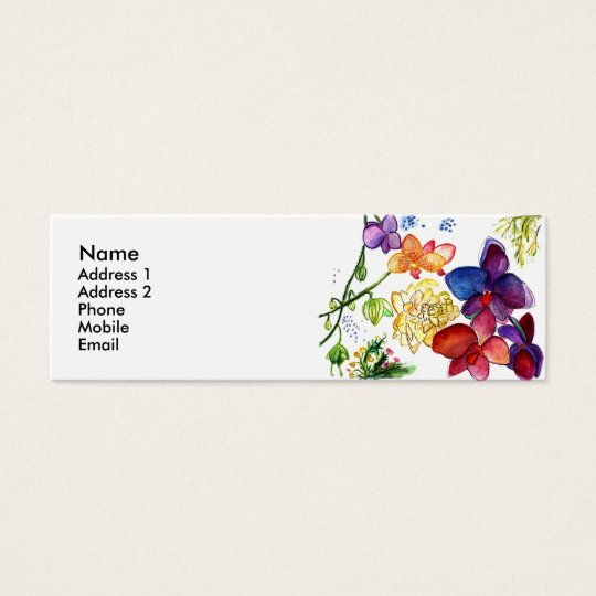 Orchid Fun Profile Card white