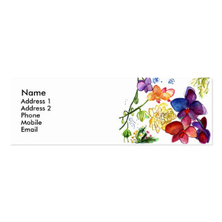 Orchid Fun Profile Card white Business Cards