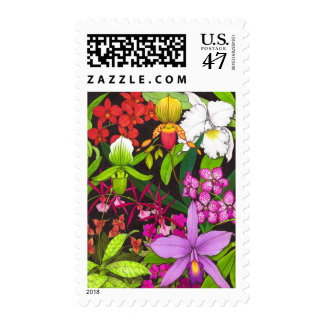 Orchid Garden Flowers Postage