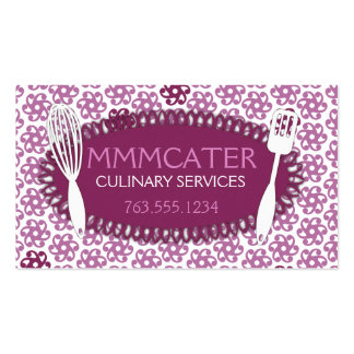Orchid geometric flowers whisk cooking baking Double-Sided standard business cards (Pack of 100)