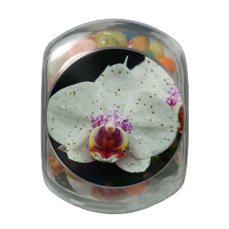 Orchid Glass Candy Jar