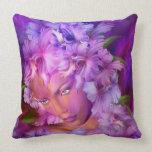 Orchid Goddess Art Decorator PIllow