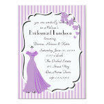 """Orchid Gown Bridesmaid Card 4.5"""" X 6.25"""" Invitation Card"""