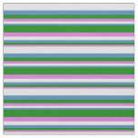 [ Thumbnail: Orchid, Green, Blue, and Lavender Lines Fabric ]