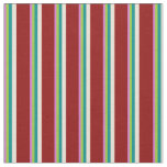 [ Thumbnail: Orchid, Green, Dark Cyan, Bisque & Dark Red Lines Fabric ]