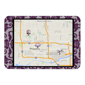Orchid Grey Chinese Brocade Directions insert Card